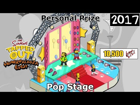 TSTO - Homerpalooza Event   Pop Stage   Personal Prize (2017)