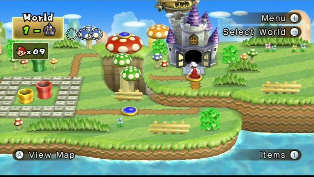 New Super Mario Bros Wii World 1 Larry Castle 10 Youtube