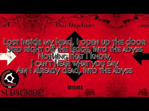 "Three Days Grace - The Abyss (LYRIC VIDEO) [From the ""Outsider"" album 2018]"