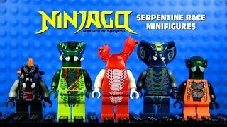 LEGO Ninjago Masters of Spinjitzu vs Serpentine Race KnockOff Minifigures Set 8