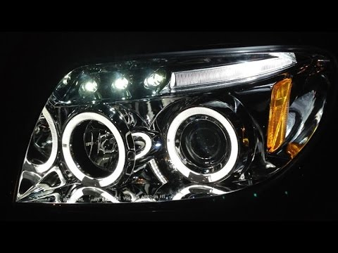 Halo LED Projector Headlights Wiring Installation Spec D