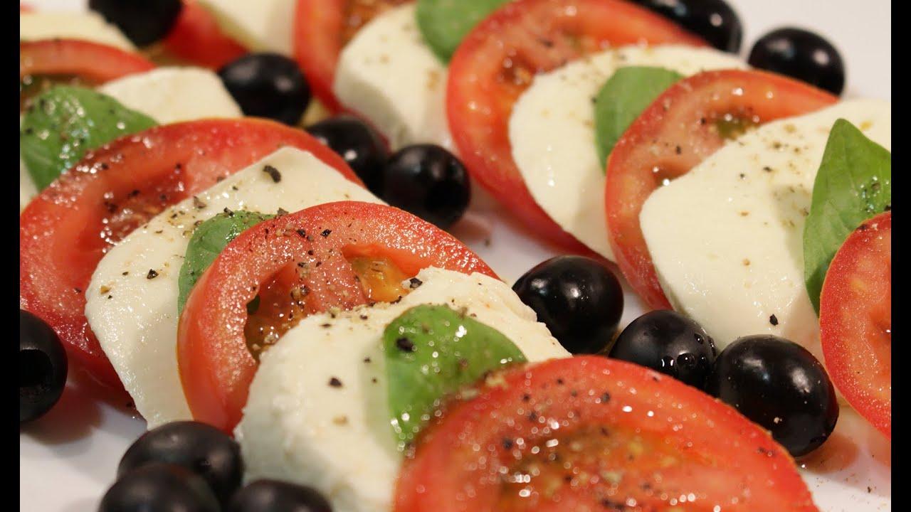 Ensalada italiana ensalada caprese youtube for Decoracion italiana