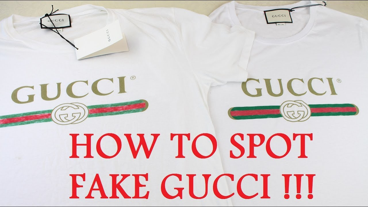 HOW TO SPOT A FAKE GUCCI T SHIRT  148e05e71f1b