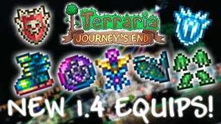 ALL Terraria 1.4 Journeys End ACCESSORIES!! | Terraspark Boots, Soaring Insignia and MORE!