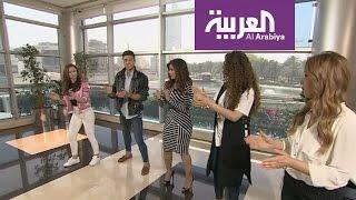 مذيعتا صباح العربية ترقصان رقصة ترافولتا الشهيرة في فيلم Gre