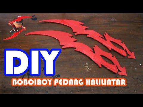 How To Make BoBoiBoy Thunderstorm Swords