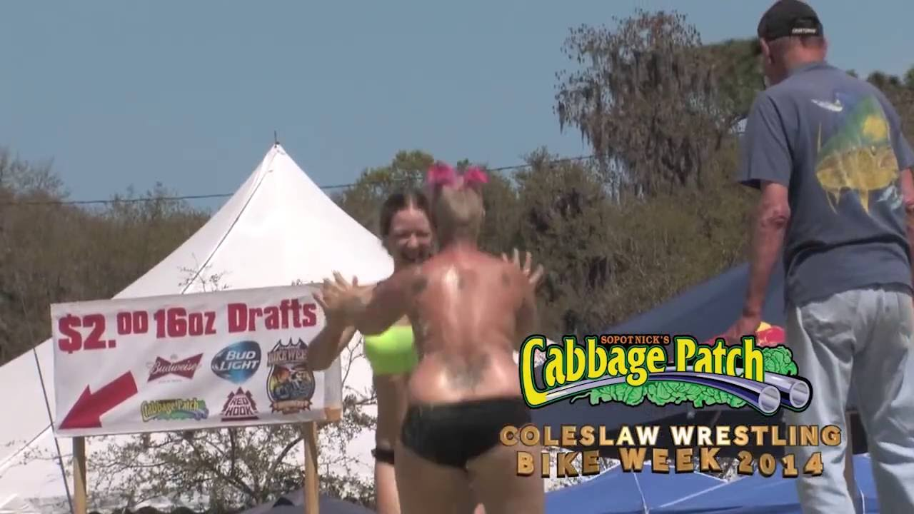 Official Video Cabbage Patch Bar Coleslaw Wrestling Bike Week 2014