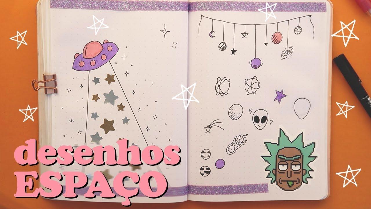 Desenhos De Universoespao Para Bullet Journal Hd Video Download