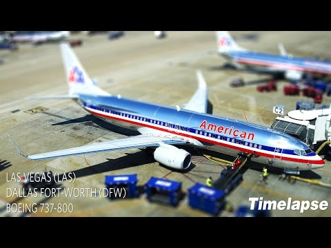 Timelapse Flight | Las Vegas to Dallas Fort-Worth | American Airlines B737-800