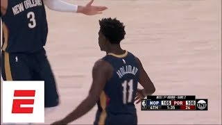 Jrue Holiday, Rajon Rondo hit clutch 3s to give Pelicans 2-0 series lead on road over Blazers | ESPN thumbnail