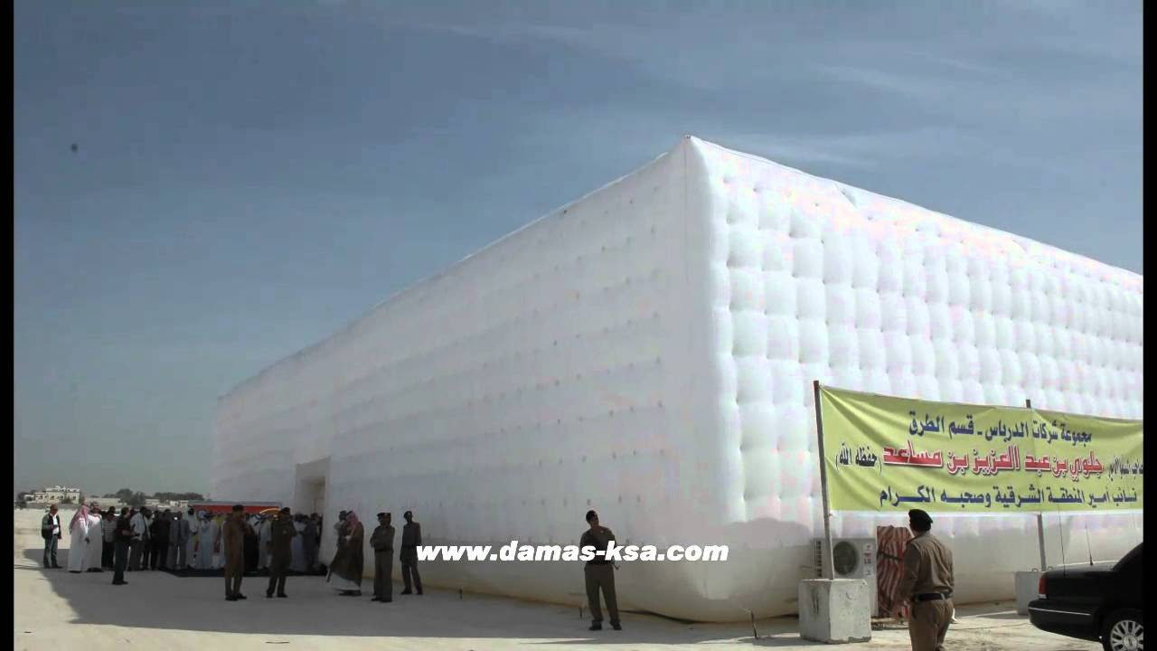 Awesome !! inflatable tent was built in less than 3 hours!! : inflatable concrete tent - memphite.com