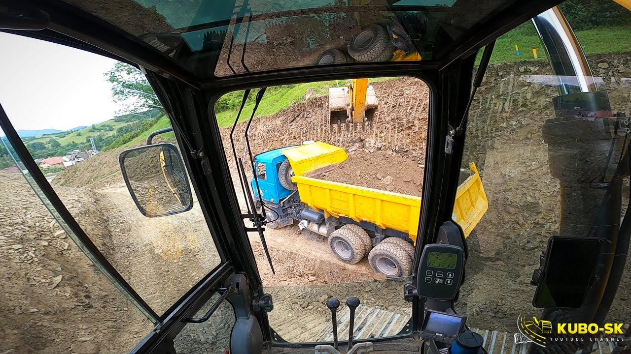 Kopem zárez na dom | JCB JC130LC excavator | POV | GoPro head mount
