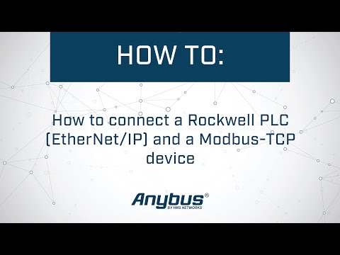 How to connect a Rockwell PLC (EtherNet/IP) and a Modbus-TCP device