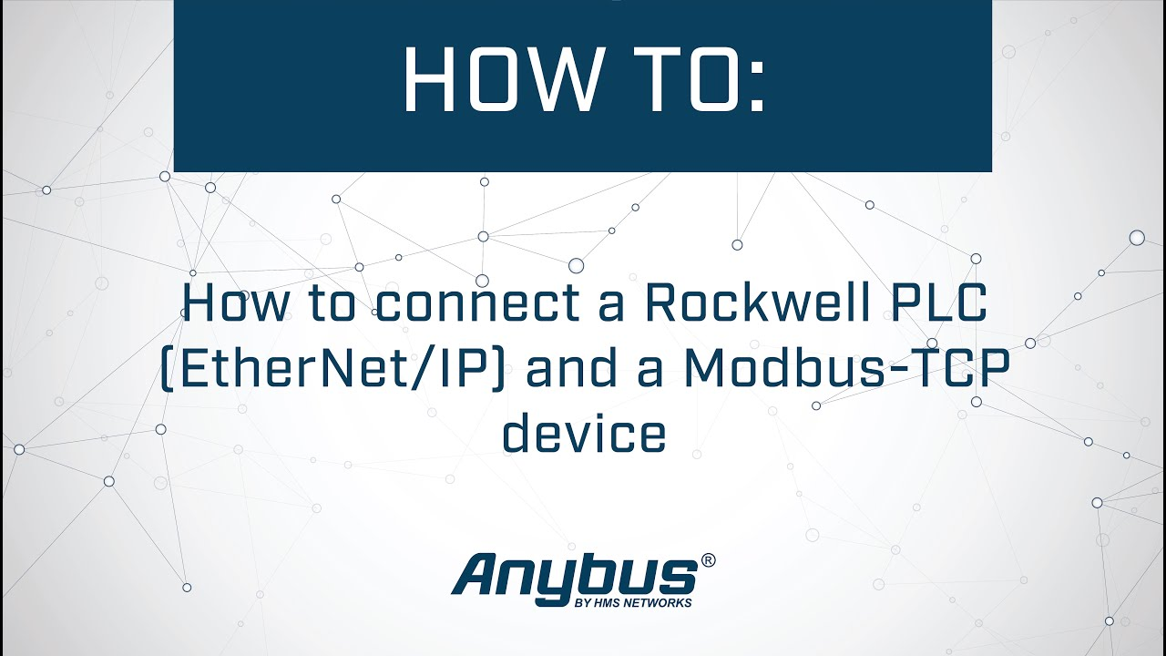 How To Connect A Rockwell Plc Ethernet Ip And Modbus Tcp Device Honeywell Vfd Wiring Diagram