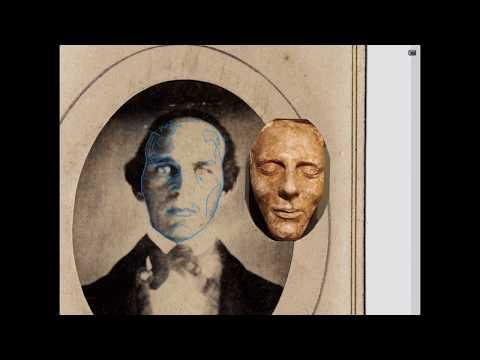 Outlining Illinois man's face onto Joseph Smith Junior's Death Mask