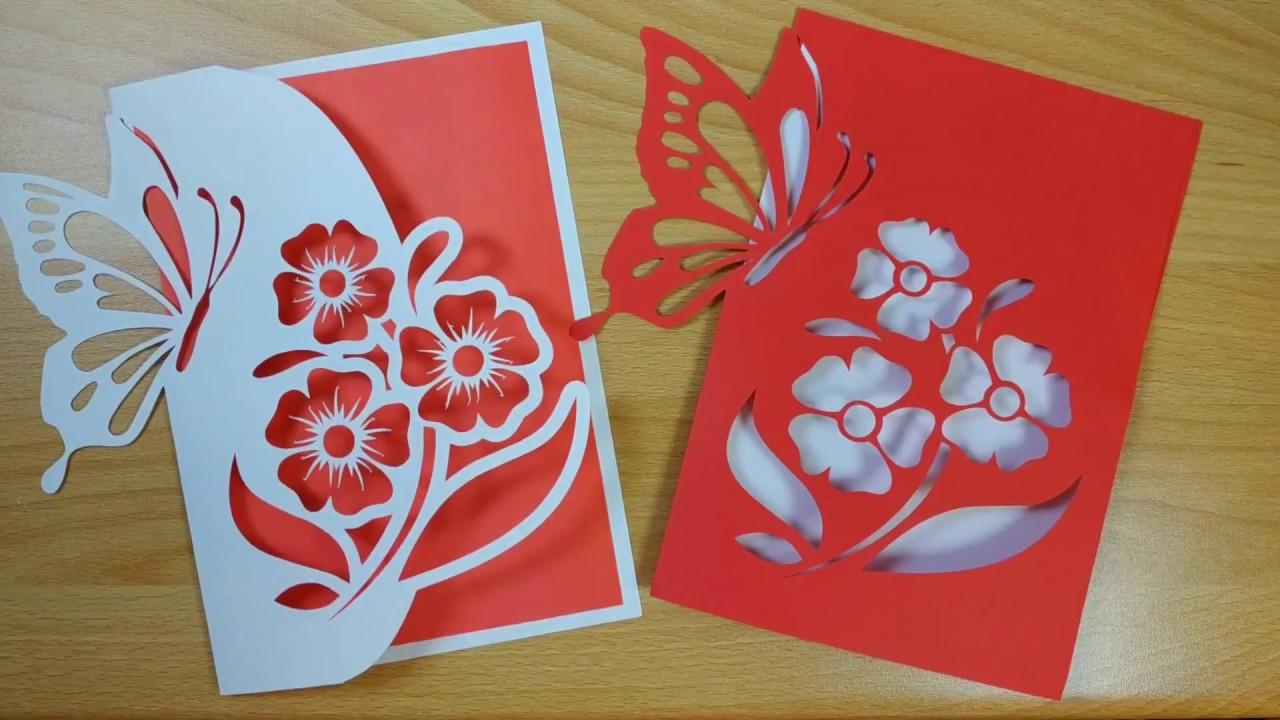 Как красиво вырезать открытку