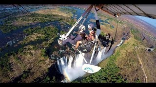 Microlight flight over Victoria Falls (Livingstone, Zambia)