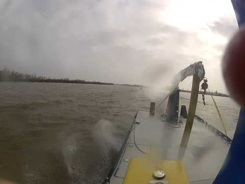 Power House barge runs down smaller boat with a 225hp