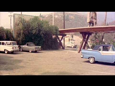 Southern California Drive In Restaurant Parking Lot, Late 1950's HD