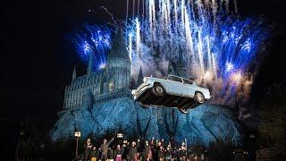 【フォード・アングリアが空を飛び回る!】USJハリー・ポッターエリアの新アトラクション「ワンド・マジック」「ワンド・スタディ」オープニング・セレモニー