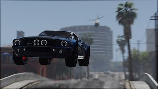 GTA 5 - 1967 Shelby Mustang GT500 Epic Police Chase (Cinematic) Part 2