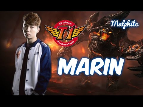 SKT T1 MaRin MALPHITE Top vs Darius Patch 5.17 | League of Legends - YouTube