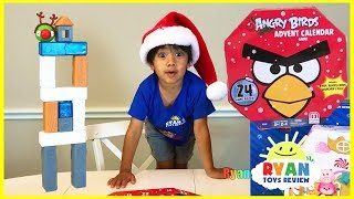 Ryan opens Advent Calender Angry Birds and Thomas & Friends for Christmas