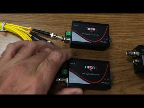 Thor Fiber HD SD 3G SDI Over Fiber Transmitter Receiver Kit For $350