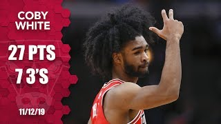 Coby White sets rookie record with 7 4th quarter 3-pointers | 2019-20 NBA Highlights