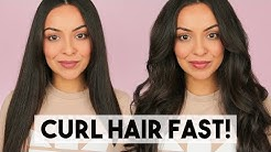 HOW TO CURL LONG HAIR FAST! - TrinaDuhra