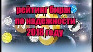 ТОП БИРЖ ПО НАДЁЖНОСТИ МОЙ ОТЗЫВ 2018