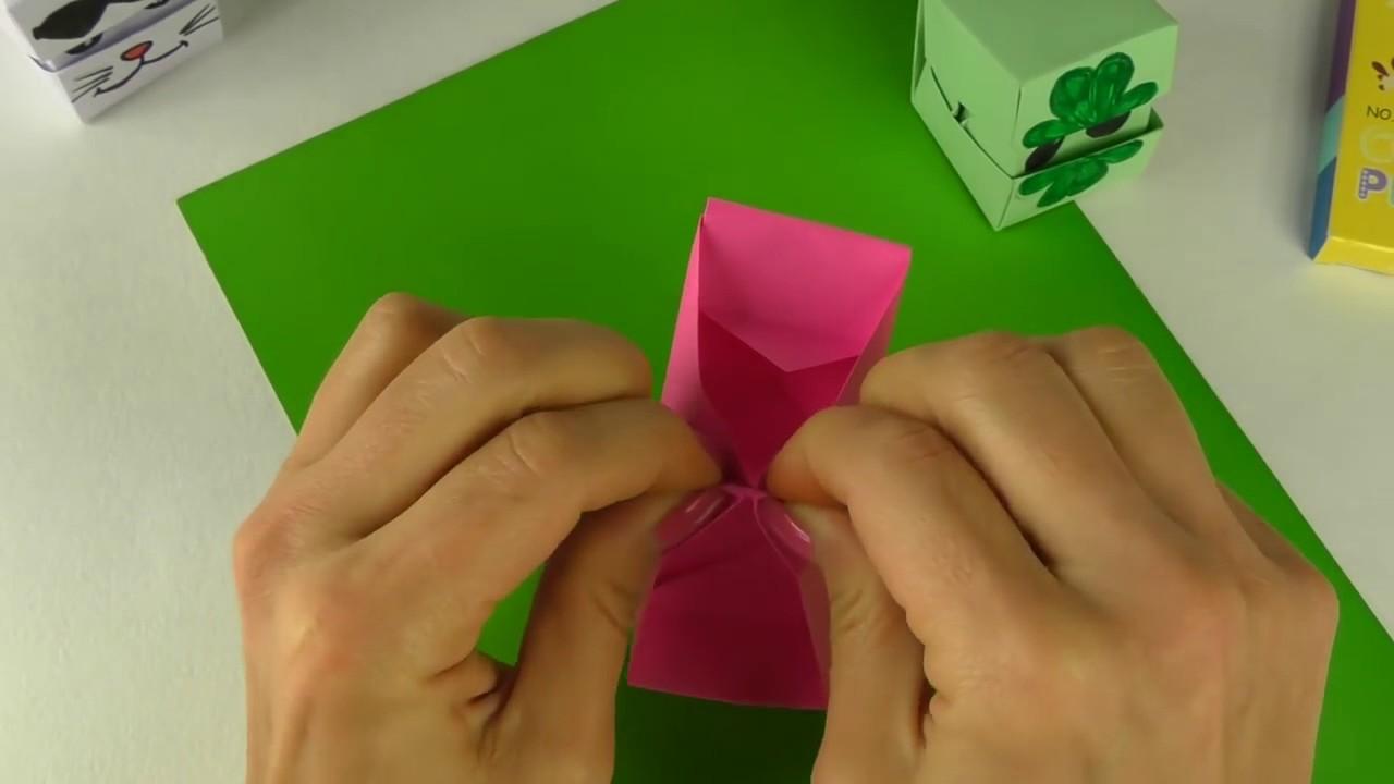 Как сделать из бумаги кубик который меняет лицо 132