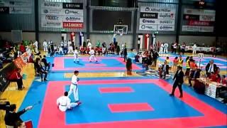 Combat de Raffaelle 22 11 2014, Au Championnat Suisse de Karaté