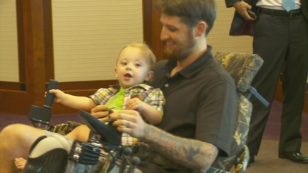 wounded vet gifted tank like all terrain power chair youtube