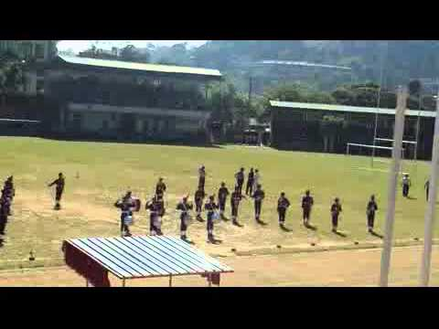 Dharmaraja College Western Bands formation display at the college sports meet, 2014