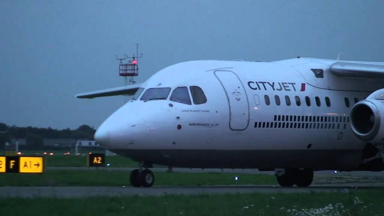 Antwerp Airport Avro R J85 Departure