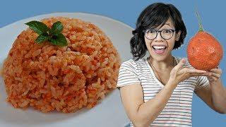 Xôi Gac - GAC Fruit Rice  Recipe Test & Taste
