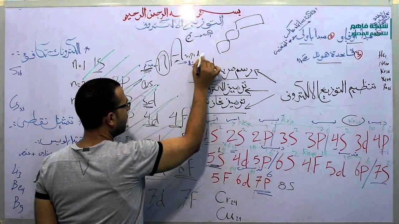 كيمياء الصف الثانى الثانوى الدرس الثالث التوزيع الألكترونى