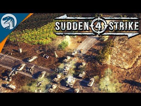 HEAVY GUN DEFENSE POSITION WREAKS HAVOC |  Sudden Strike 4 German Campaign Gameplay 2