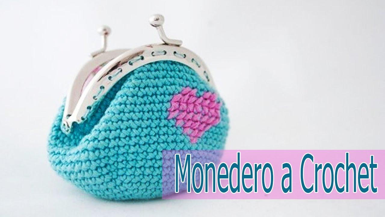 Monedero Tejidos A Crochet Para Negocio Youtube - Monederos-ganchillo