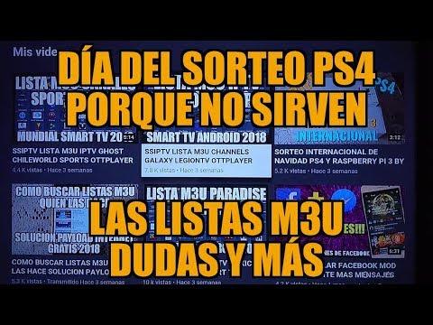 YA PROXIMO EL SORTEO ACLARANDO DUDAS PS4 IPTV FELICES DÍAS BY SYDER13