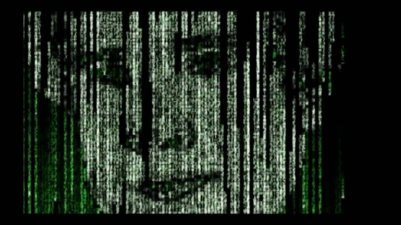 Close Up Girl Wallpaper Matrix Rain Intro Effect Animation Code Digital C Part 1