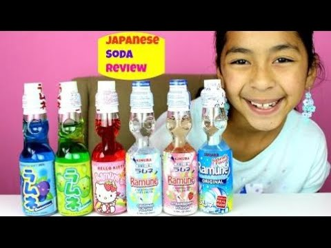 Japanese Pop Ramune Soda Review | 1st Time Candy Review| B2cutecupcakes