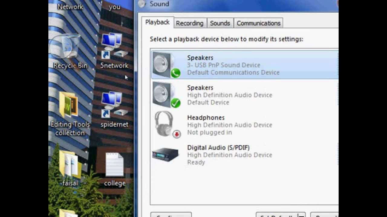 How to Enable and Disable Headphone In windows 7  (very Easy)