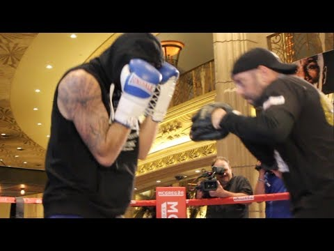WAR CLEV! - NATHAN CLEVERLY SMASHES THE PADS WITH DARREN WILSON AHEAD OF BADOU JACK CLASH