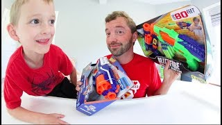 Father & Son / REAL NERF -VS- FAKE NERF!