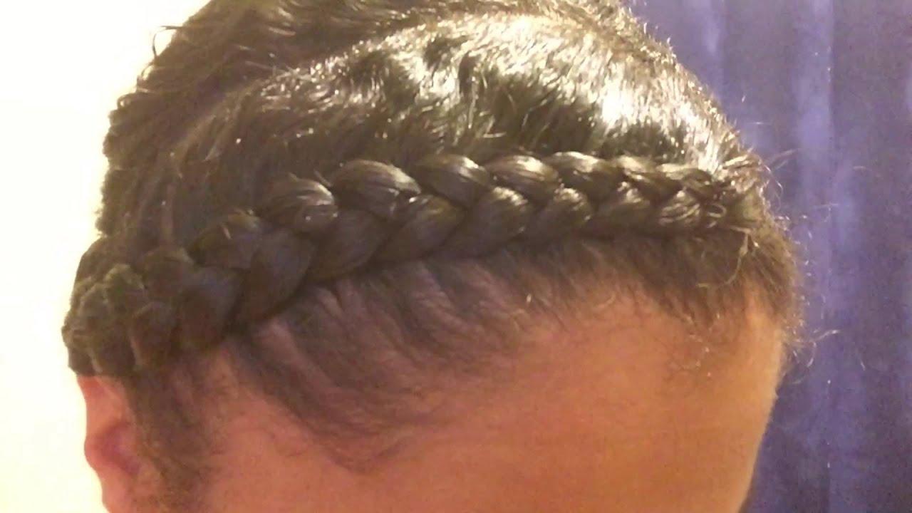 flat twist & braid scalp step