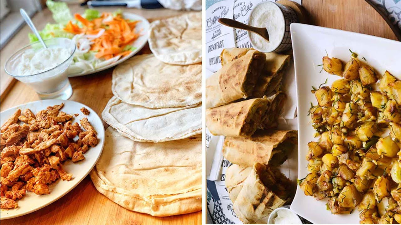 Menu Libanais  Shawarma, Batata Harra, Sauce blanche libanaise