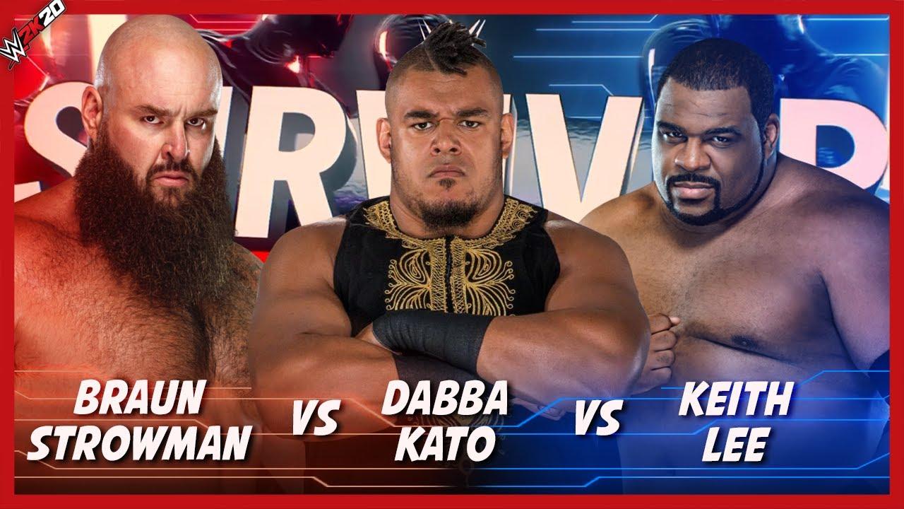 Download Full Match Braun Strowman Vs. Dabba-Kato Vs. Keith Lee : Survivor Series (WWE 2K20)