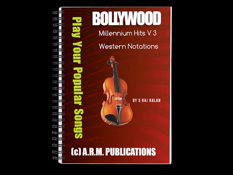 VIOLIN WESTERN NOTES FOR BOLLYWOOD MILLENNIUM HITS V 3 BY S RAJ BALAN